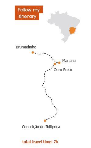 itinerary minas gerais Gondwana Brazil