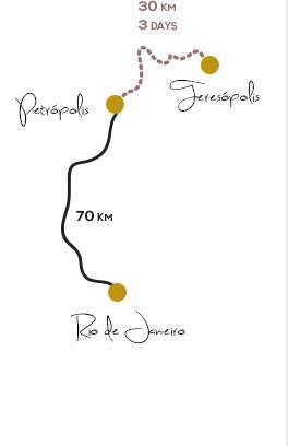 Gondwana Brazil Map Trekking Serra Orgaos Trip